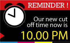 Extend cut-off time to 10.00pm